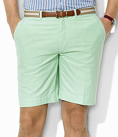 Polo Ralph Lauren Preppy Oxford Flat-Front Shorts