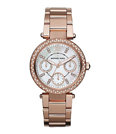 Michael Kors Rose Goldtone Mini Parker Ladies Watch