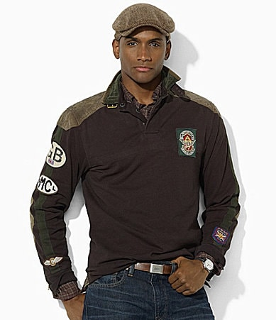 Polo Ralph Lauren Custom-Fit Long-Sleeved Utility Jersey Moto Rugby