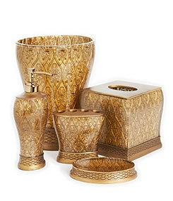 Bath accessories add the final touch of luxury to your for Blue and gold bathroom accessories