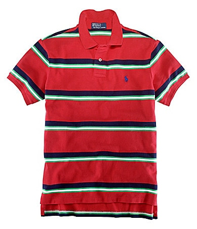 Polo Ralph Lauren Classic-Fit Striped Cotton Mesh Polo Shirt