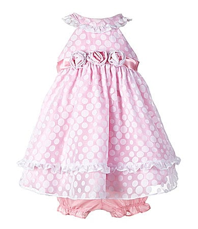 Nannette Infant Dot Print Dress & Matching Panty