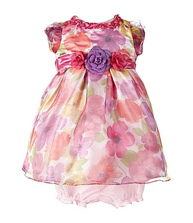 Nannette Infant Floral Woven Dress & Matching Panty