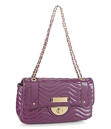 Kate Landry Quilted Patent Satchel