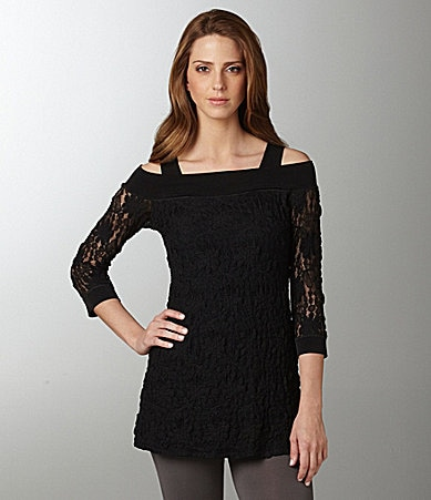Eva Varro Off-Shoulder Lace Tunic