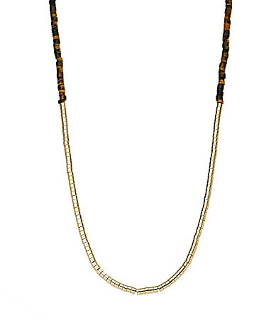 Michael Kors Tiger�s Eye Long Beaded Necklace