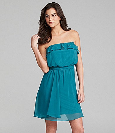 Gianni Bini Corrine Strapless Ruffle Dress