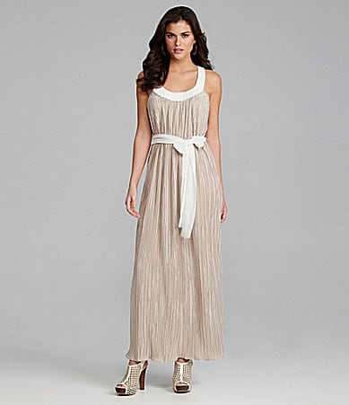 Gianni Bini Olivia Pleated Luster Maxi Dress