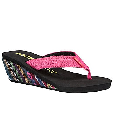 Rocket Dog Islander Wedge Thong Sandals