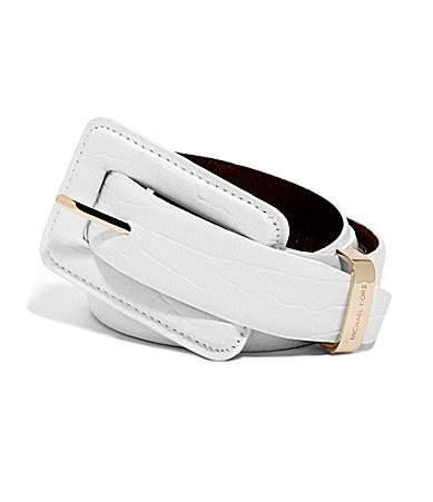 MICHAEL Michael Kors Croco Embossed Belt