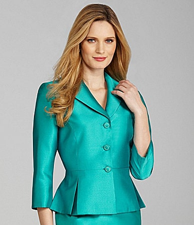 Preston & York Geri Satin Peplum Jacket
