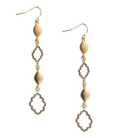 Lauren Ralph Lauren Golden Kashmir Linear Earrings