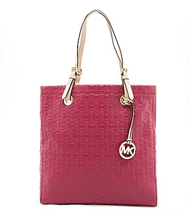 MICHAEL Michael Kors North-South Signature Monogram Embossed Tote