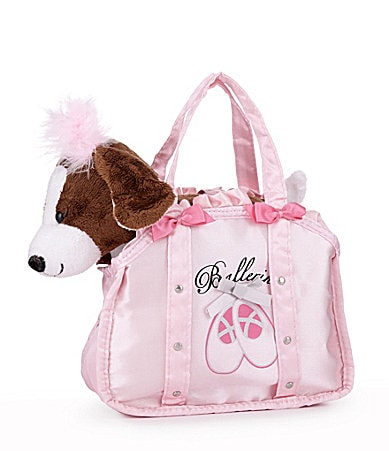 Capelli New York Plush Dog & Ballerina Handbag Carrier Set