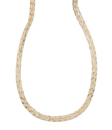 Natasha Accessories Dot Dash Long Chain Necklace