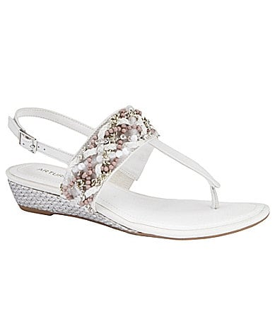 Arturo Chiang Dianna Wedge Sandals