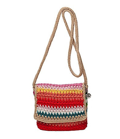The Sak Casual Classics Crochet Beach Stripe Flap Cross-Body