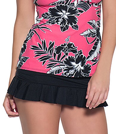 Beach House Solid Ruffle Skirted Bottom