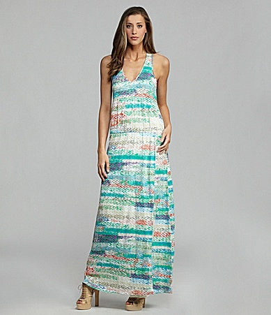 C & C California Halter Blouson Maxi Dress
