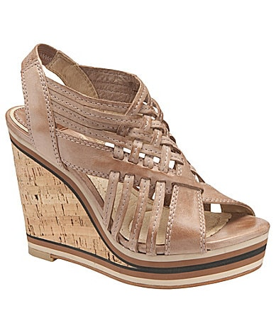 Frye Corrina Slingback Platform Wedge Sandals