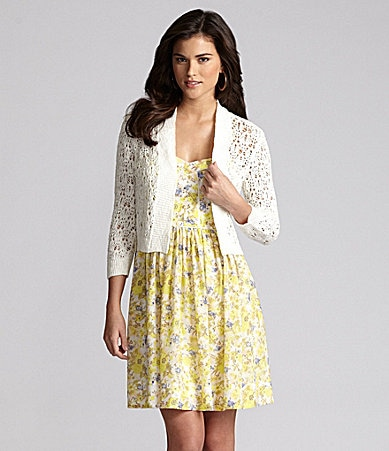 Gianni Bini Serafina Crochet Cardigan & Simone Floral Dress