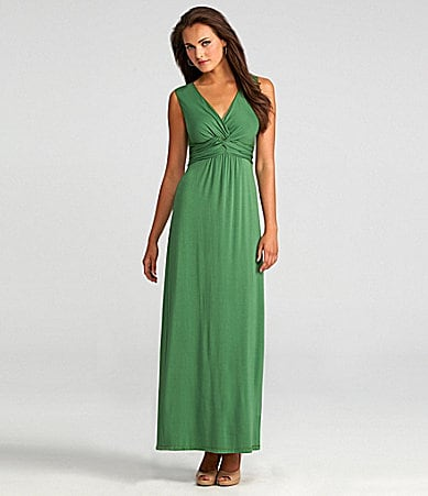 Nurture Jersey Twist-Front Maxi Dress