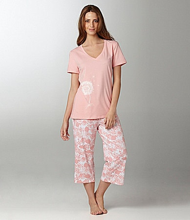 Sleep Sense Dandelion Print Top & Capris