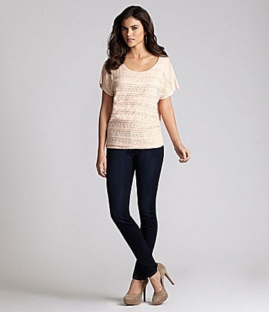 Gianni Bini Danya Knit Top & My BFF Denim Jeggings