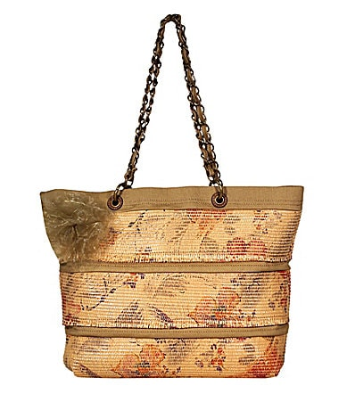 Jessica Simpson Day Dreamer Floral Straw Tote