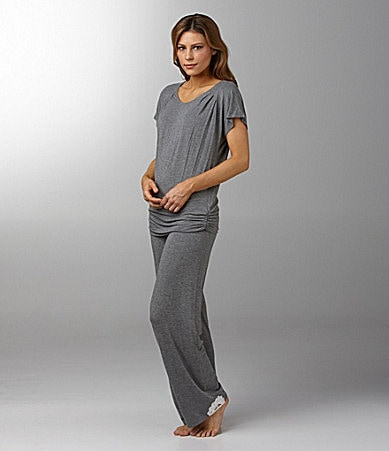 Kensie Lacy Turning Short Sleeve Sleep Top & Pants