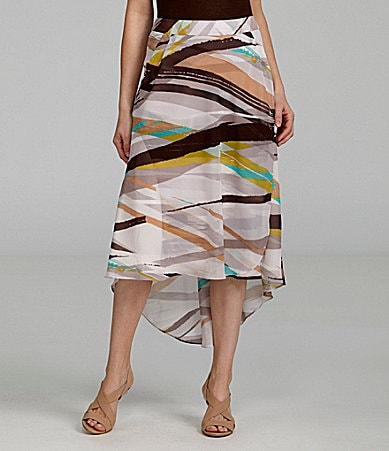 Antonio Melani Adriana Abstract Hi-Low Skirt