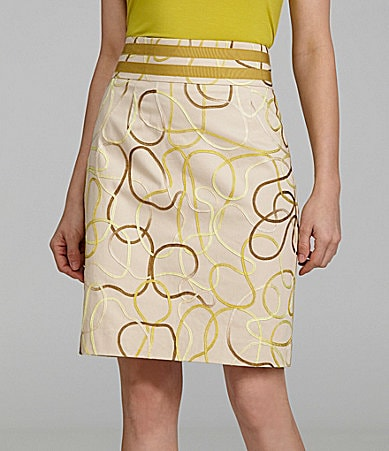 Antonio Melani Bertie High-Waist Ribbon Skirt