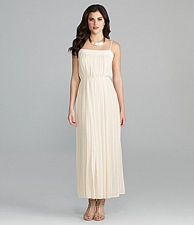 Gianni Bini Delilah Pleated Chiffon Maxi Dress