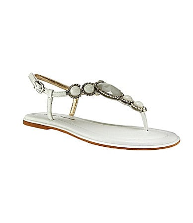 Antonio Melani Sabina Jeweled T-Strap Sandals