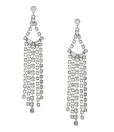 Cezanne Crystal Shower Chandelier Earrings