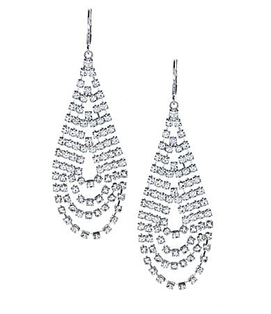 Cezanne Crystal Loop Teardrop Earrings