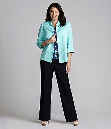 Alex Marie Woman Maizy Linen-Blend Jacket, Kayla Knit Top & Paige Pants