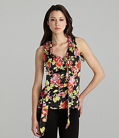 Patterson J. Kincaid Floral Hi-Low Blouse