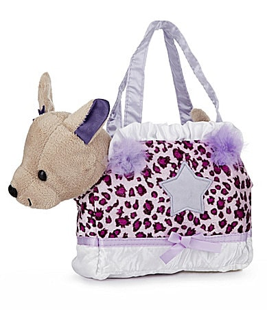 Capelli New York Plush Chihuahua & Leopard Handbag Carrier Set