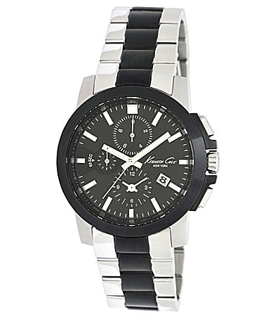 Kenneth Cole New York Men�s Round Black Metal Watch
