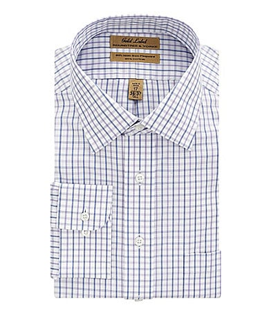 Roundtree & Yorke Big & Tall Fineline Point-Collar Easy-Care Dress Shirt
