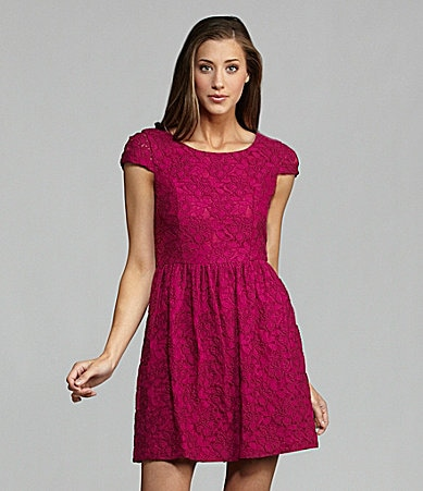 Kensie Floral Lace Dress