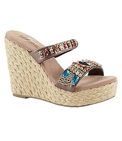 Volatile Cadence Wedge Thong Sandals