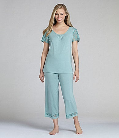Nottibianche TEMPtation Aqua Lace Sleep Top &  Capris