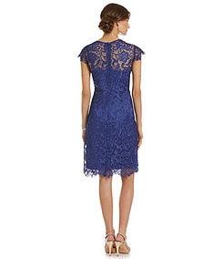 Patra Illusion Lace Shift Dress