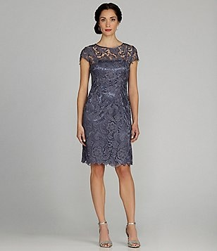 Patra Illusion Lace Sheath Dress