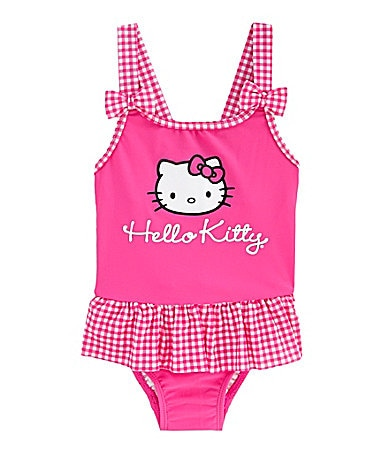 Hello Kitty 2T-6X 1-Piece Skirted Swimsuit