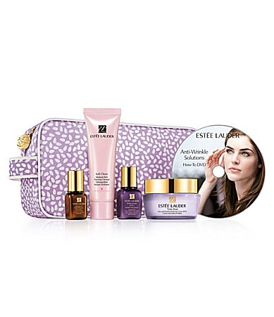 Estee Lauder Anti-Wrinkle Solutions Skincare Travel Set with Full-Size Moisturizer & DVD