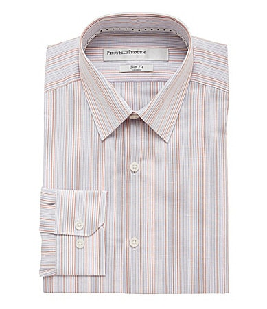 Perry Ellis Striped Dress Shirt