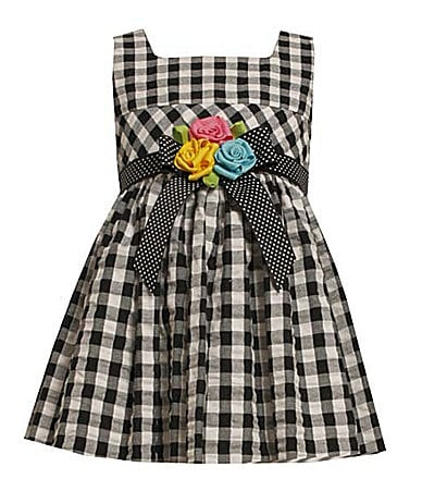 Bonnie Jean 2T-6X Gingham Print Check Dress